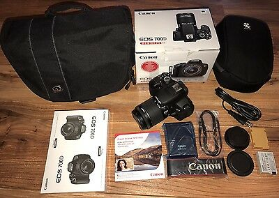 Canon EOS 700D / Rebel T5i 18.0 MP Digitalkamera - Schwarz (Kit m/ EF-S 18-55mm…
