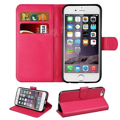 For Apple iPhone  6 6S PREMIUM Leather Magnetic Flip Cover Wallet Case {P35