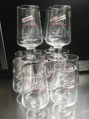 12 X Half Pint San Miguel Beer Glasses. Brand New