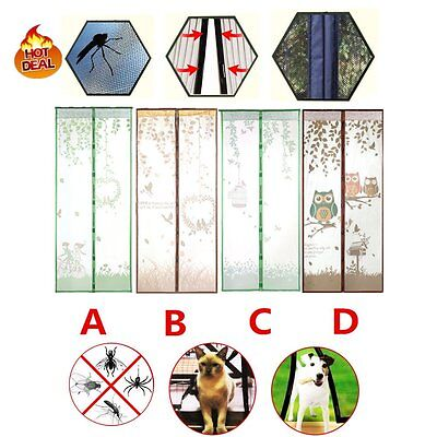 Cool Magnetic Anti Mosquito Fly Bug Door Curtain Portiere Screen Self-closed PR
