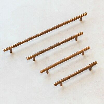 Antique Copper Bar Handles | 4 Sizes | For Kitchens, Cabinets and Furniture
