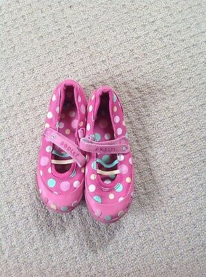 girls spotted pink doodles shoes size10.5E size