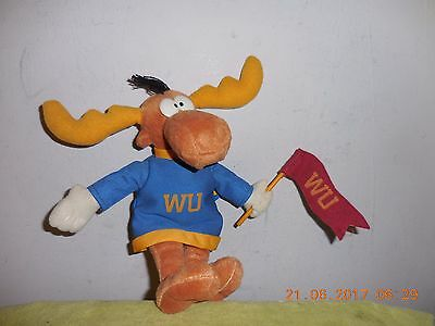 """Rocky And Bullwinkle J Moose And Friends 9"""" Plush  W/ Tag"""