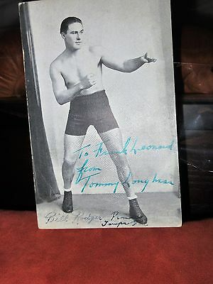 Tommy Loughran postcard sized autographed photo
