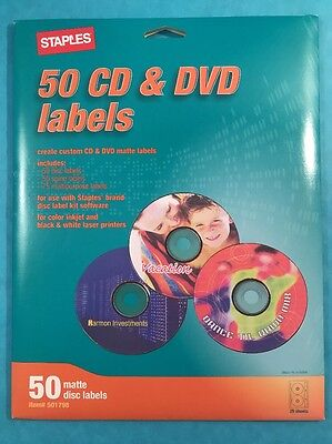Staples Cd Dvd Disk Labels Open Box But Unused