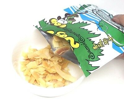 10 Pcs.samui Coconut Chip Thai Fruits Real Natural Flavor New Freeze-Dried Snack