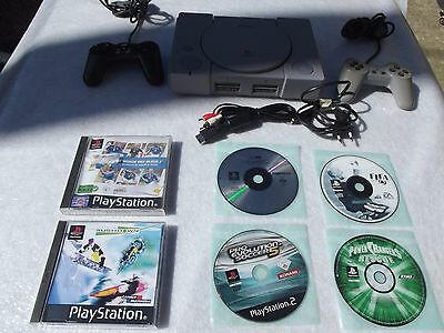 PS1 fat CONSOLE PLAYSTATION 1 pal 2 MANETTES 6 JEUX 2 cartes mémoire