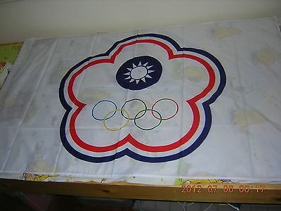 100% NEW Republic of China ROC Taiwan Chinese Taipei Olympic Ensign Flag 3X5ft