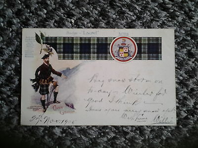Old PC Clan GRAHAM Tartan Badge and Coat of Arms