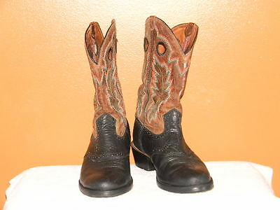 Twisted X Mens Black Leather Western Cowboy Boots Size 10.5 D