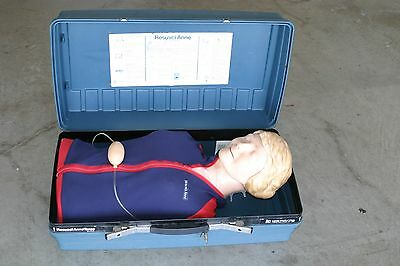 Laerdal Resusci Anne Torso w/Case CPR Training Manikin Nice Condition