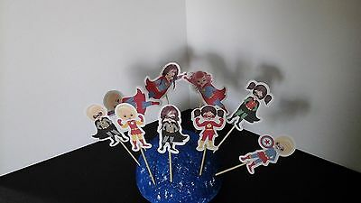 Superhero Girls cupcake toppers--Set of 12