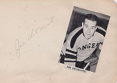 Signed Joe Del Monte 1920-2005 Earls Court Rangers Canada USA Los Angeles 1940s