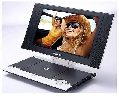 """SYLVANIA 11.6"""" WS Portable Rechargeable DVD Player with Built-in SD & USB Slot"""