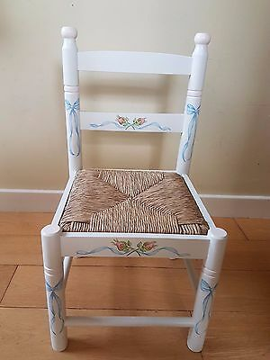 Child's Rush Seated chair - like Dragons of Walton Street - Roses