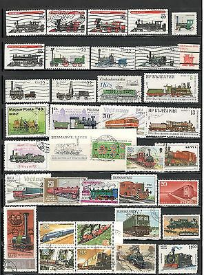 Train Stamps Worldwide stamps Topical Stamps lot 4