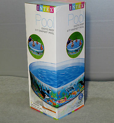INTEX Exotic Reef 6 FT Snapset Instant Kids Childrens Swimming Pool  #58461EP