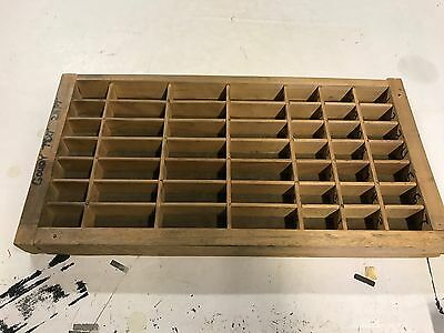 Vintage 16 1/2  X 8 1/2 X 1 1/2  Printers Typeset Letter Drawer Shadow Box