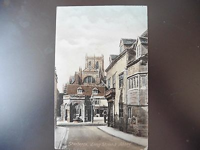 Vintage Postcard Sherborne Long Street And Abbey 1910