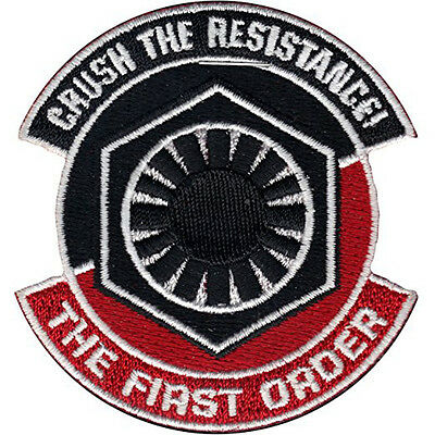 Star Wars Force Awakens First Order Crush The Resistance Iron-On Patch