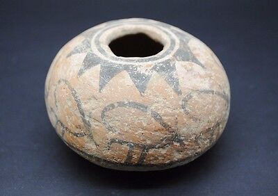 Ancient Indus Valley Terracotta Decorated Vessel Harappa Culture 3300-1200 Bc~