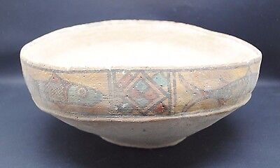 Large Indus Valley Terracotta Decorated Bowl Harappa Culture 3300-1200 Bc
