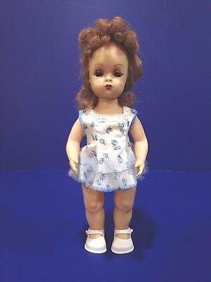 "VINTAGE 10"" TINY TERRI DOLL WITH SUNDRESS AND SHOES ~ Terri Lee ~ Tosca Hair"