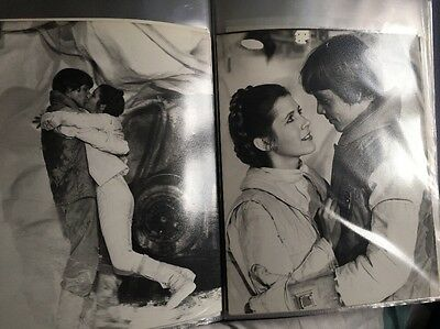 Star Wars -ESB 1979 Production used-2x Photographs-Mark Hamill Carrie Fisher