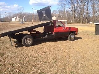 1986 Chevrolet Other Pickups red 1986 k30 pick up flat bed chevy truck