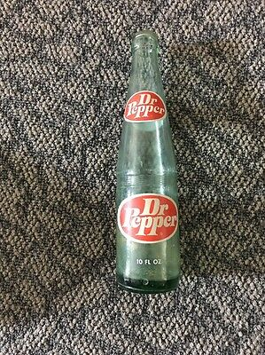 Old Vintage Dr. Pepper Beverages Soda Pop Bottle Glass 10 oz.