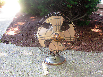 "Vintage Working  GE 16"" Vortalex  Oscillating 3 Speed Electric Desk  Fan"