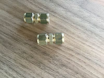 2 x 8mm BRASS STRAIGHT COMPRESSION CONNECTOR  GAS PIPE FITTINGS