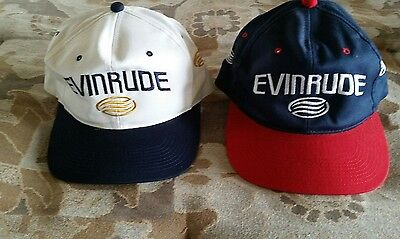 NEW, Two Evinrude Outboards Caps Hats