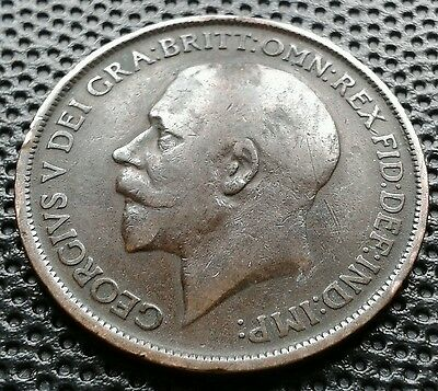 George V 1912H Heaton Mint Penny Coin Good Collectible Condition