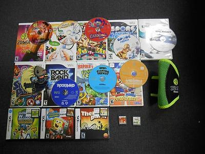 Lot of 15 Used Wii and DS Games and Accessories - Mario and Sonic and more!