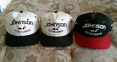 Three Johnson Outboards Caps Hats