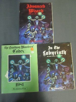 The Fantasy Trip Rpg Advanced Wizard Labyrinth Masters Codex Two Are First Print