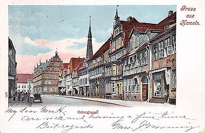 Gruss aus Hameln, GERMANY ~ Osterstrasse in Old Town ~ posted 1908