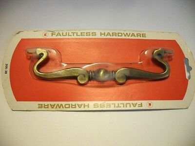 Vtg NOS Drawer Drop Bail Pull Part ONLY) Antique Brass Faultless Hardware 205-38