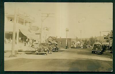 1946 Jackman Station,ME W.L. Barney Co. Rexall Drug Store Real Photo Postcard