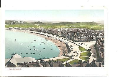 Lovely Very Early Vintage Postcard,general View Of Llandudno