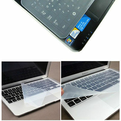 """Universal Silicone Keyboard Cover Skin Protector for 15""""  Laptop UK Seller"""