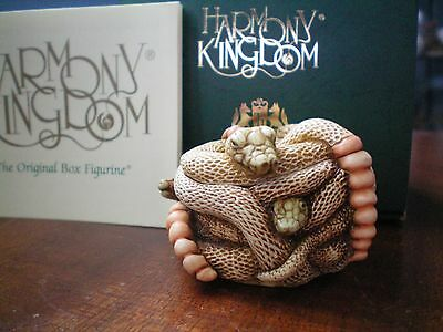 Harmony Kingdom All Tied Up Snakes Retired 12/1/1996 UK Made Marble Resin Box