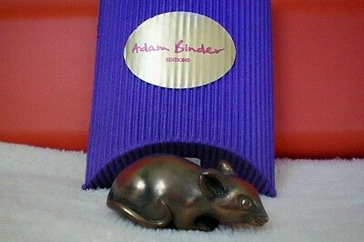 Adam Binder Editions Cold Cast Bronze Mouse Palm Charm Necklace UK Made LE 300