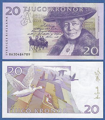 Sweden 20 Kronor 2008 UNC & Crisp Bank Note Geese, & Horse