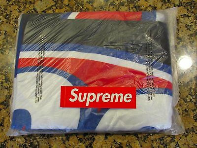 NEW Supreme SS17 Black Large 666 Beach Towel Collectible Accessory Item BOX LOGO