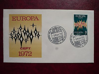 Span. Andorra Europa Cept FDC 1972 gestempelt / used