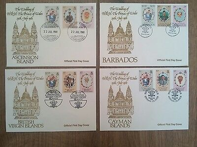 1981 Royal Wedding, Charles & Diana job lot of 18 First Day Covers