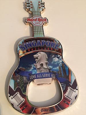 Hard Rock Cafe SINGAPORE Bottle Opener Magnet FLASCHENÖFFNER No Icon Flaggir Pin
