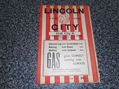 LINCOLN CITY  reserves  v  HULL CITY  reserves  1947/8  MIDLAND LEAGUE ~ JAN 17